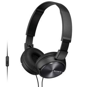 Headphone Sony Mdr-zx310ap Dobrável Fio De 1,2m Preto