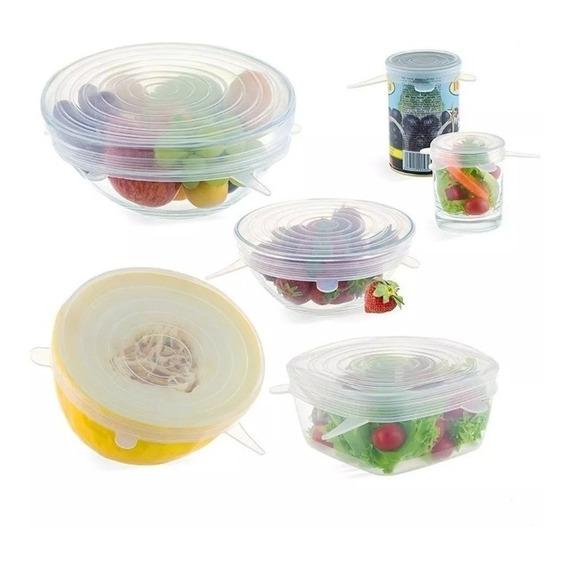 Tapas De Silicona X6 Reutilizables Moderno Cocina Bowls