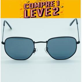 1f6d83116c50c Oculos Cinza Claro Hexagonal - Óculos De Sol Com lente polarizada no ...