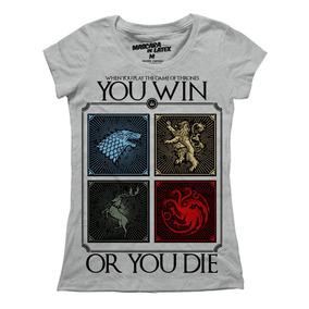 Playera Mujer Game Of Thrones Win Or Die Mascara De Latex