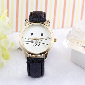 Reloj Gato Envio Gratis Gatito Orejas Kawaii Mujer Kitty