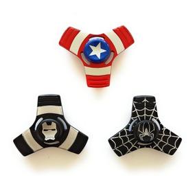 3 Spinners De Metal Capitan América, Iron Man Y Hombre Araña