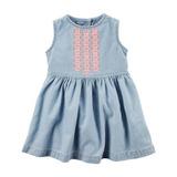 Carters ® Vestido Jean Bordado Nena - Dress Super Canchero!