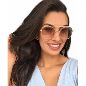 Oculos De Sol Feminino Dita Talon Two Dourado