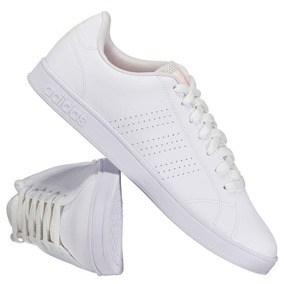 Tênis adidas Vs Advantage Clean Feminino Branco E Laranja
