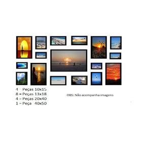Kit 17 Porta Retratos Parede C/vidro * Frete Grátis*
