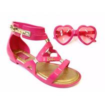 Sandália Infantil Barbie + Óculos Grendene 21333 - Grendene