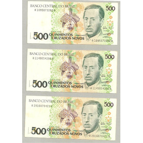 Nota Dinheiro Cédula 500 Cruzados Novos 1990 C-209 Promoção