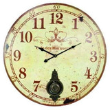 Large 23 Reloj De Pared Con Pendulo ~ Antiguo Estilo Pro