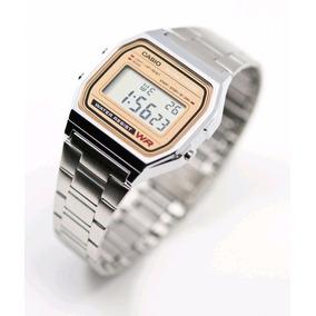 Reloj Casio A158 Dorado Plateado Moda Vintage