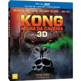 Blu-ray 3d Kong A Ilha Da Caveira - Carta Registrada Inclusa