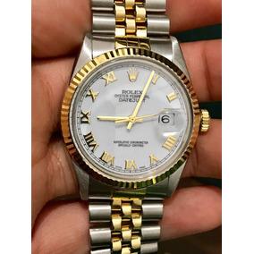 Rolex Datejust Espectacular Acero Oro Romanos Cambio Rapido