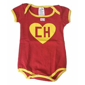 Body De Personagem Chapolin Para Bebê Manga Curta - Promo d53c0312426