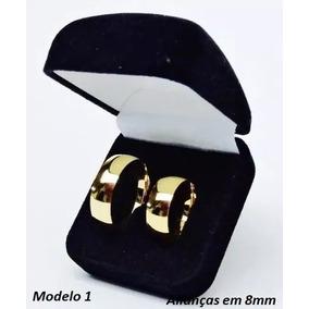 Par De Alianças Ouro 18k Banhada Casamento Brinde Promoção