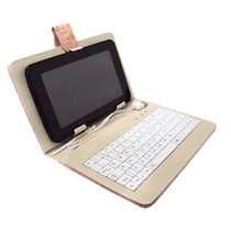 Capa Com Teclado Para Tablet 7 Polegadas Desenhada
