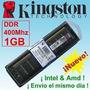 Memorias Kingston Ddr 1gb 400 Mhz Total Garantia