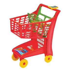 Carrinho Supermercado Infantil Market Vermelho - Magic Toys