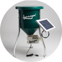 Alimentador Automático Solar E Bivolt 20 Litros Peixes Aves