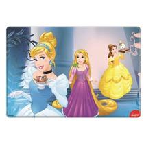 Placa Para Pastel Grande De Pvc 3 Princesas En Castillo