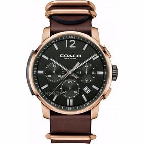 Reloj Coach Bleecker Acero Inox Café Hombre 14602019