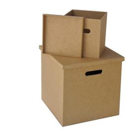 Kit 1 Caixa Para Disco/lp/vinil 1 Cx Compacto Em Mdf Cru