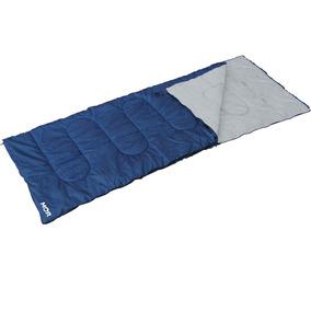 Saco De Dormir Envelope Mor Com Extensor - Azul/cinza