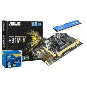 Kit Placa Mae Asus H81 Core I5 4570 3.6ghz (max) 8gb Ddr3