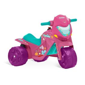 Super Moto Elétrica Infantil Menina Rosa Gatinha Bandeirante
