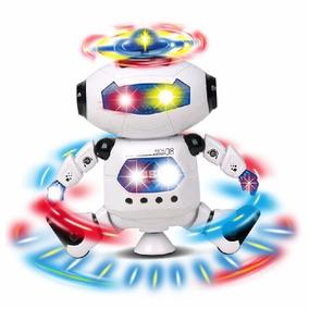 Robô Dançarino Do Espaço Com Musica E Luzes, Duas Cores