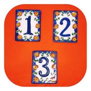 Número Placa 3 Pzas De Talavera Poblana Color De Casa Nlp