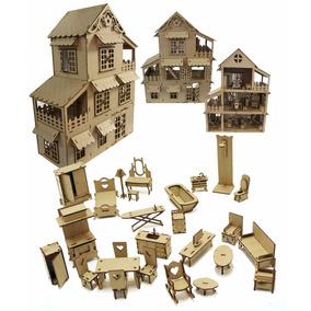 Casa Casinha Boneca Polly +27 Móveis Abre Portas Janelas10!