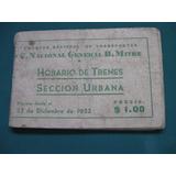 Horarios De Trenes, Ferrocarril General Mitre, 1952