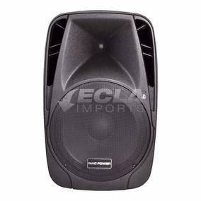 Caixa De Som Ativa Bluetooth 350w Rms Microfone S/ Fio Mac12
