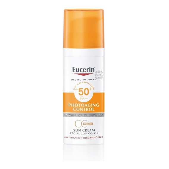 Protector Solar Eucerin Sun Cc Cream Fps50+ Con Color X 50ml
