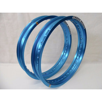 Aro Aluminio Titan 125/150/160 Azul Three Heads 18x215+215
