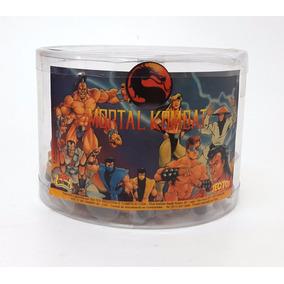 Balde Bonecos Mortal Kombat Miniatura Tectoy Com 24 Bonecos