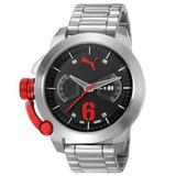 Relógio Puma Pulseira De Aço 100m Profundidade 96233g0pmna3