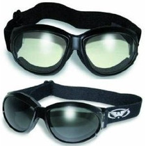2 Eliminator Motocicleta Gafas Claras Y Humo Tintados Plus P