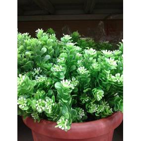 Ramo Hojas Verdes Con Flor Artificial Colores