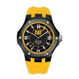 Cat Relojes Hombres A116127127 Navigo Fecha Negro Y Amarillo