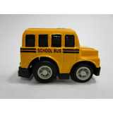 Juguete Antiguo Bus Escolar 5cm Impulso Coleccion W