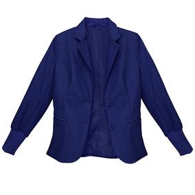 Saco Cardigan Dama Mujer Casual Azul 4118 Zoara