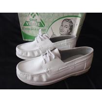 Zapatos De Enfermera N 38 Blancos 100% Cuero Anatómico,nuevo