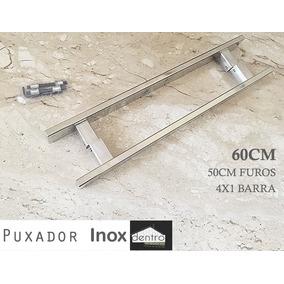 Puxador Reto Duplo Inox 60cm