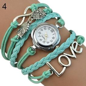 Relógio Feminino Lindo Bracelete Coruja Barato