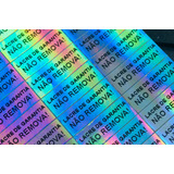 Lacres Void Holográfico 30x10mm 60 Uni. Impr. Simples