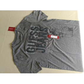 Remera Guess Original Hombre Talle M Estampado En Relieve