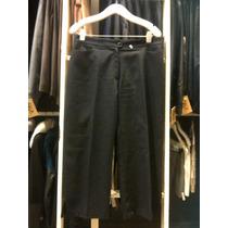 Pantalon Tela De Vestir Capri Negro