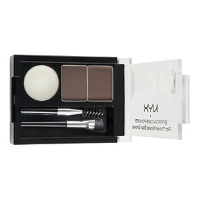 Nyx Eyebrow Cake Powder Kit Duo Sobrancelha Dark Brown Ecp02