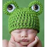 Touca Sapo Sapinho Bebe Criança Gorro Croche P/ Ensaio Foto